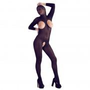 ORION VERSAND Catsuit nera crotchless con maschera