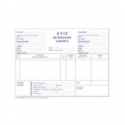Aviz Insotire Marfa A5, 3 Ex, 50 Seturi/Carnet - Formular Tipizat Autocopiativ