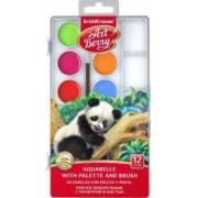 Set acuarele in 12 culori cu pensula si protectie UV ErichKrause Multicolor