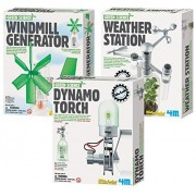 4 M Green Science Windmill Generator With Weather Station & Dynamo Torch