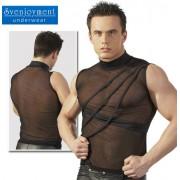 Svenjoyment Powernet Turtle Neck Muscle Top T Shirt Black 2160420