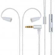 IE80 plug verzilverde hoofdtelefoon draad met Mic (zilver)