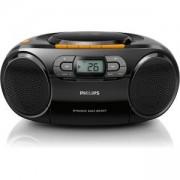 CD радиокасетофон Philips, CD, MP3-CD, USB, FM, Лента, 2 W AZ328