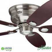 Brushed Nickel Hunter Low Profile III Ceiling Fan