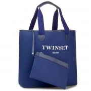 Geantă TWINSET - Shopping AS8PNA Blu Scuro 0058S