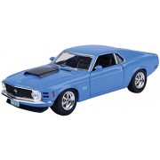 Motormax - 1/24 American Classics Die-Cast Collection 1970 Ford Mustang Boss 429 (Blue)