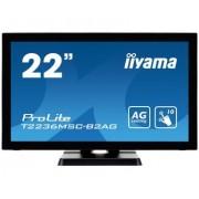 iiyama 21,5' PCAP 10P Touch Screen, Anti Glare coating, 1920x1080, VA-panel, Flat Bezel Free Glass Front, VGA, DVI, HDMI, 213cd/m² (with touch)