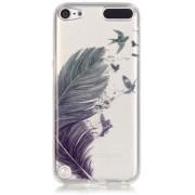 GadgetBay Veer vogels TPU case transparant hoesje iPod Touch 5 6 7 - Blauw Groen