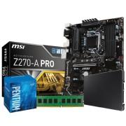 Mining Pro Kit Pentium 1151: MSI Z270A-PRO Intel G4400 4GB DDR4 SSD 120GB