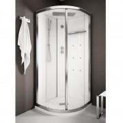 Box doccia idromassaggio angolare 90x90 cm White Space bianco