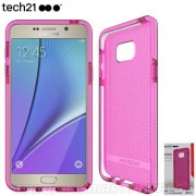 Funda TECH21 Evo Check Samsung Note 5 Rosa translucido