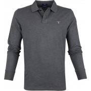 Gant Rugger LS Poloshirt Dunkelgrau - Anthrazit 3XL