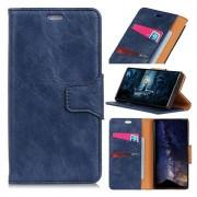Nokia 7.1 Wallet Leren Hoesje met standaard - Donkerblauw