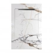 Cadita de dus slim AquaNit Slope Havana White line, 80x120 cm, + Sifon din inox, Alb