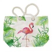 PPD.Y1552707 Tropical Flamingo vászon strandtáska,55x38cm
