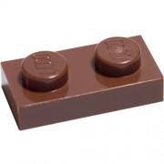 Interior Bricks LEGO Bulk Parts: 1 x 2 Plate Reddish Brown
