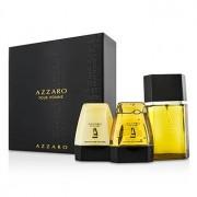 Azzaro Coffret: Eau De Toilette Spray 100ml/3.4oz + Hair & Body Shampoo 75ml/2.6oz + After Shave Balm 75ml/2.6oz 3pcs Azzaro Set: Apă de Toaletă Spray 100ml/3.4oz + Șampon pentru Păr și Corp 75ml/2.6oz + Balsam După Ras 75ml/2.6oz
