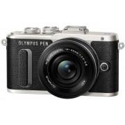 Aparat Foto Mirrorless Olympus E-PL8 Pancake Zoom Kit, Body, 16.1 MP, Filmare Full HD + Obiectiv EZ-M1442 (Negru/Argintiu)