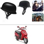 AutoStark German Style Half Helmet Matte Black) for Hero Duet