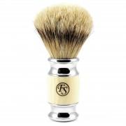 Frank Shaving Cremefarbiger moderner Silberspitz Rasierpinsel