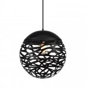 [lux.pro] Lámpara colgante metal negra [Ø40cm]