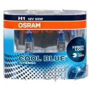 Becuri auto H1 12V 55w P14.5s Osram Cool Blue Intense , Set 2 becuri efect Xenon 64150CBIHCB Kft Auto