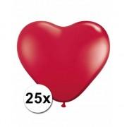 Shoppartners Hartjes ballonnen rood 25 stuks