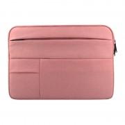 Universele 15.6 inch Laptoptas Sleeve met Oxford stof en zijvakjes voor MacBook Samsung Lenovo Sony Dell Chuwi Asus HP (roze)