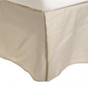 Luxor Treasures MF3000KGBS 2LIV 100% Brushed Microfiber Bed Skirt, King, Ivory, Wrinkle Resistant, Pleated Corners