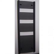 Designradiator Gebogen Sanicare 172x60cm 1134 Watt Antraciet Zijaansluiting