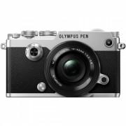Aparat Foto Digital Compact Olympus PEN-F Pancake + EZ-M1442EZ Negru/Gri