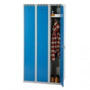 Šatní skříň š 900 mm - šedo/modrá