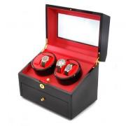 Klarstein Vitrine Présentoir 10 montres Remontoir cuir