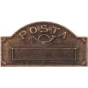 Buca per lettere ottone bronzato Alubox mod. A3-OB
