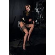 Trasparenze Tunn strumpbyxa med prickmönster och stay-ups-look Film cosmetic 2