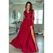 Rochie de ocazie din dantela lunga rosie