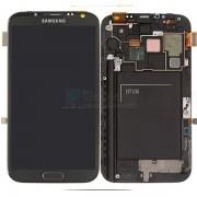 Ecran Lcd + Tactile Complet Samsung Galaxy Note Ii 4g N7105 Gris