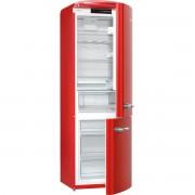 Combina frigorifica Gorenje Retro ORK192RD, Frost Less, A++, 326 l, Control electronic, H 194 cm, Rosu