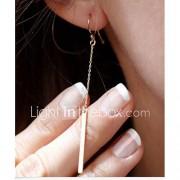 Dames Druppel oorbellen Elegant Modieus Eenvoudige Stijl Kostuum juwelen Verguld Lijnvorm Sieraden Voor Feest Dagelijks Causaal