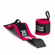 Better Bodies Womens Wrist Wraps Hot Pink/White