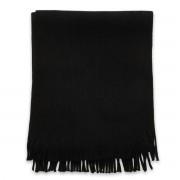 Eșarfă bărbătească în culoarea negru, cu franjuri 9969