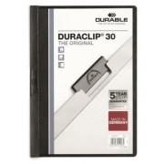 Gyorsfűző, klipes, A4, DURABLE DURACLIP® 30, fekete (DB220001)