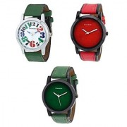 Danzen combo of Three men's Watches dz-416-417-418