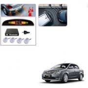 Auto Addict Car Silver Reverse Parking Sensor With LED Display For Toyota Etios