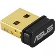 БЕЗЖИЧЕН USB АДАПТЕР ASUS USB-N10 NANO B1, 802.11N 150 MBPS, USB 2.0, ASUS-USB-N10-NANO-B1