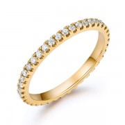 Inel Borealy Aur Galben 14 K Natural Diamonds Eternity Band