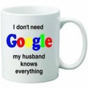 Cana personalizata ceramica 300 ml My husband knows everything