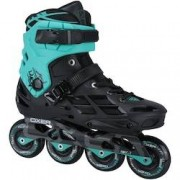 Oxer Patins Oxer Skyline - In Line - Fitness - ABEC 7 - Adulto - PRETO/AZUL