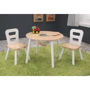 Kerek játéktárolós asztal és székek szett, Kidkraft