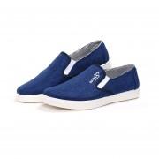 Casuales Zapatos De Lona Zapatos Perezosos - Azul